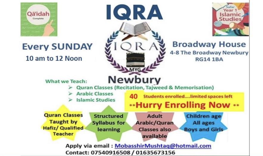 Quran & Arabic classes (IQRA)